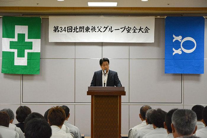 安全大会における髙木社長
